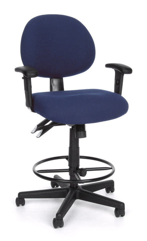 24/7 COMP TASK CHAIR W/ARMS+DK -202-BLUE