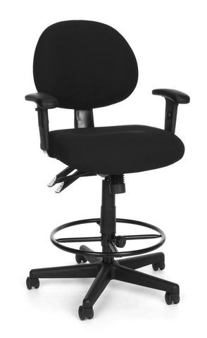 24/7 COMP TASK CHAIR W/ARMS+DK -206-BLK