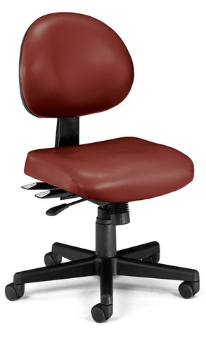 24/7 TASK CHAIR IN WINE VINYL AM