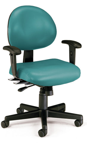 24/7 TASK CHAIR W/ARMS-602-TEAL VINYL