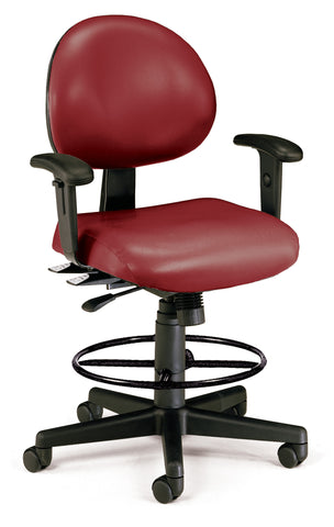 24/7 TASK CHAIR WARMS+DK-WINE VINYL