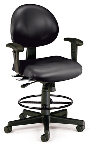24/7 TASK CHAIR WARMS+DK-BLACK VINYL