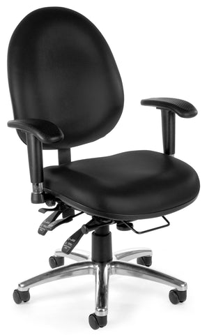 24/7 VINYL CHAIR - 606-BLACK