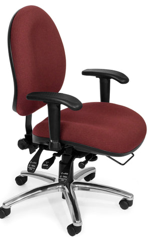 24/7 CHAIR - 201-BURGUNDY
