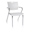 STACKING GUEST CHAIR -PLASTIC SEAT/BACK WHITE