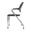 STACKING GUEST CHAIR -PLASTIC SEAT/BACK BLK