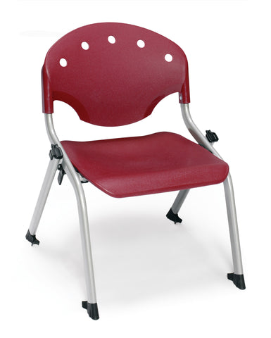 STUDENT CHAIR P17- SILVER/BURGUNDY