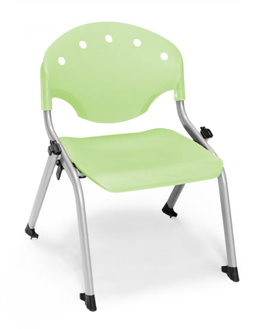 STUDENT CHAIR P52 - SILVER/GREEN