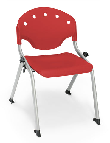 STUDENT CHAIR P1 - SILVER/RED