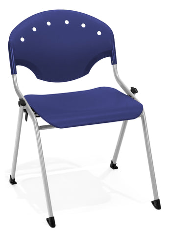 STACK CHAIR NO ARMS 46 - SILVER/BLUE