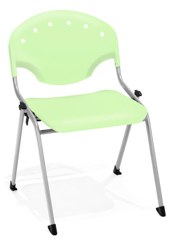 STACK CHAIR NO ARMS P52 - SILVER/GREEN