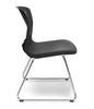 BLACK SLED BASE STACK CHAIR W/ LUMBAR SUPPORT