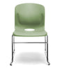 OLIVE SLED BASE STACK CHAIR W/ LUMBAR SUPPORT