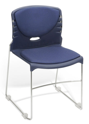 CONTRACT FABRIC STACK CHAIR - NAVY