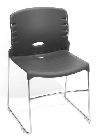 CONTRACT PLASTIC STACK CHAIR - GRAY