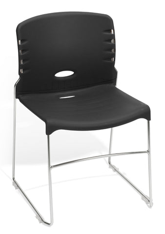 CONTRACT PLASTIC STACK CHAIR - BLACK
