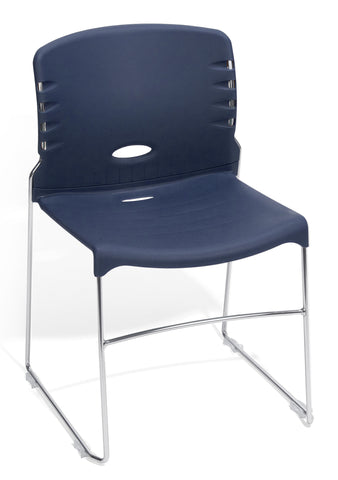 CONTRACT PLASTIC STACK CHAIR - NAVY
