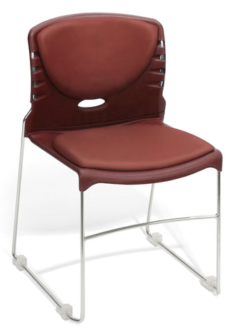 CONTRACT AM VINYL STACK CHAIR - WINE