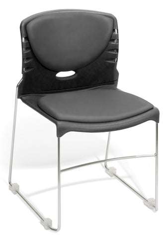 MULTIUSE VINYL S&B STACKER-604-CHARCOAL