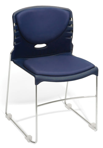 CONTRACT AM VINYL STACK CHAIR - NAVY