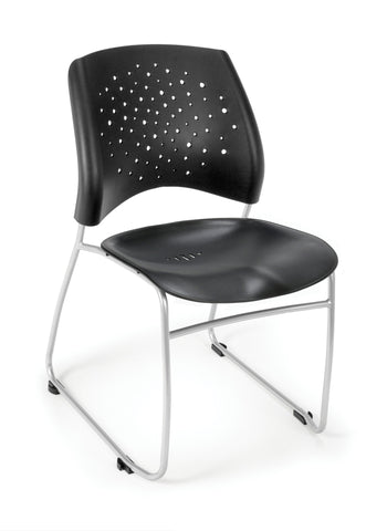 Star Stack Chair - Blk Plastic S&B