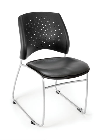 Star Stack Chair - Vinyl Seat - CHARCOAL