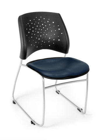 Star Stack Chair - Vinyl Seat - NAVY