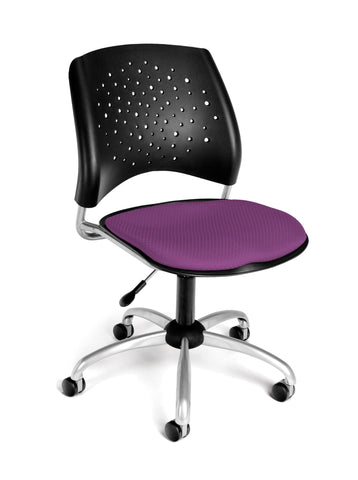 Star Swivel Chair - Plum