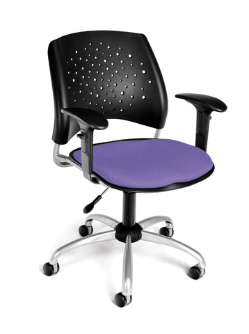 STAR SWIVEL CHAIR W/ARMS-LAVENDER