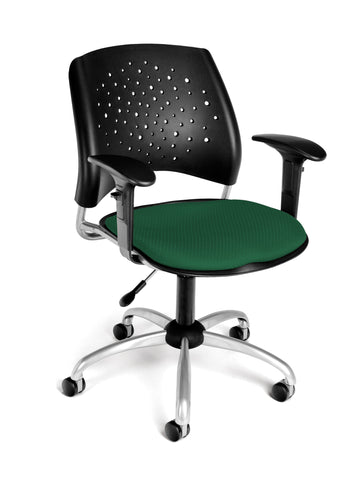STAR SWIVEL CHAIR W/ARMS-FOREST GREEN