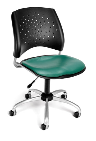 Star Swivel Chair - Vinyl Seat - Teal