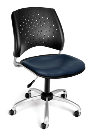 Star Swivel Chair - Vinyl Seat - Navy
