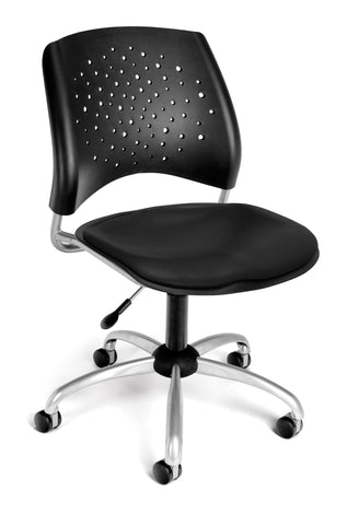 Star Swivel Chair - Vinyl Seat - Black