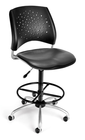 Star Swivel Chair-Vinyl Seat-w/DKit Chrc