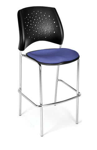 Star Cafe Hgt Chair-ChrBse-Colonial Blue