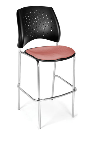 Star Cafe Hgt Chair-ChrBase-Coral Pink