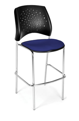 Star Cafe Hgt Chair-ChrBase-Royal Blue