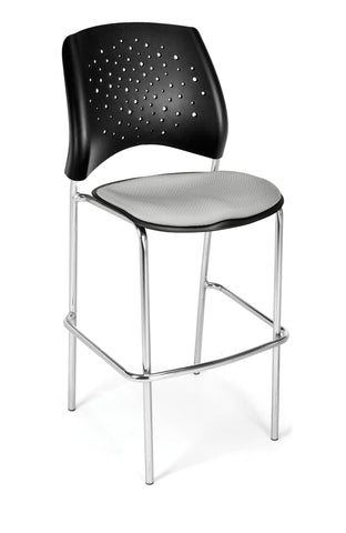 Star Cafe Hgt Chair-ChrBase-Putty