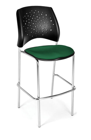Star Cafe Hgt Chair-ChrBase-Forest Green