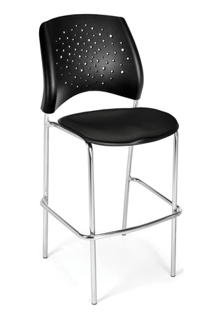 Star Cafe Hgt Chair-ChrBase-Black