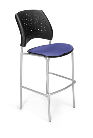 Star Cafe Hgt Chair-SlvrBse-Clonial Blue