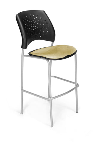 Star Cafe Hgt Chair-SlvrBase-Golden Flax
