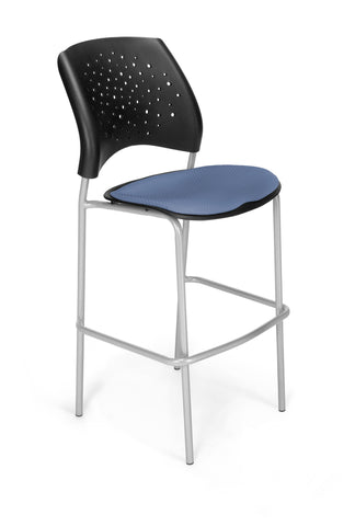 Star Cafe Hgt Chair-SlvrBse-Cornflower Blue