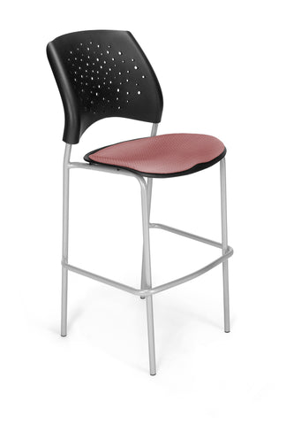 Star Cafe Hgt Chair-SlvrBase-Coral Pink