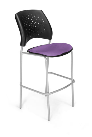 Star Cafe Hgt Chair-SlvrBase-Plum