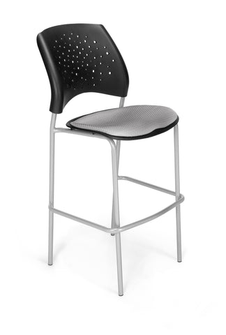 Star Cafe Hgt Chair-SlvrBase-Putty