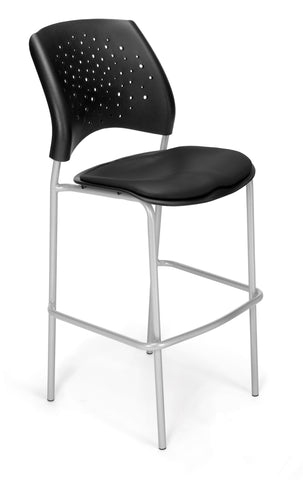 Star Cafe Hgt Chair-Silver - VAM - Black