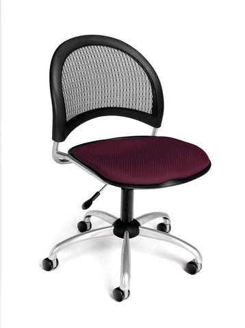 Moon Swivel Chair - Burgundy
