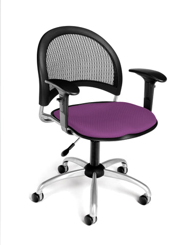 Moon Swivel Chair - Plum