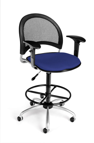 Moon Swivel Chair - Royal Blue